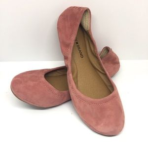 Lucky Brand Emmie Suede Flats in Canyon Rose